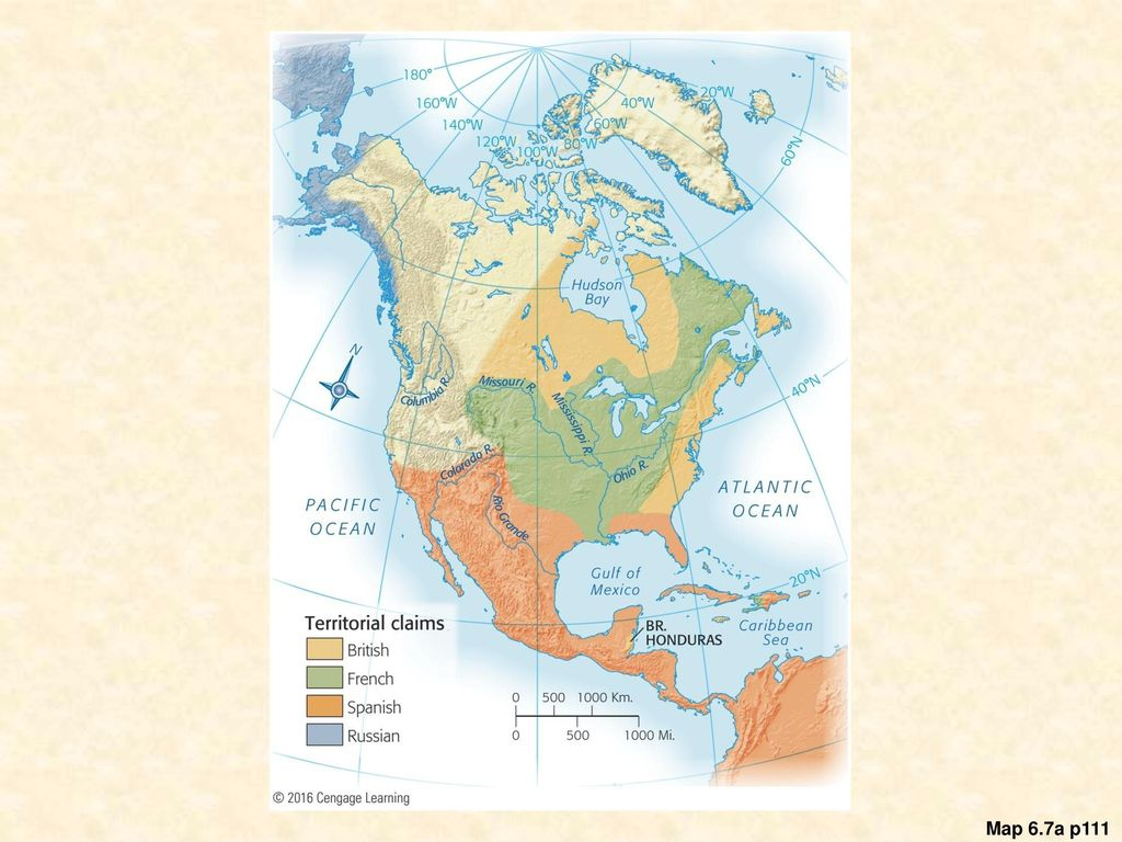 42 Map 67A North America Before 1754