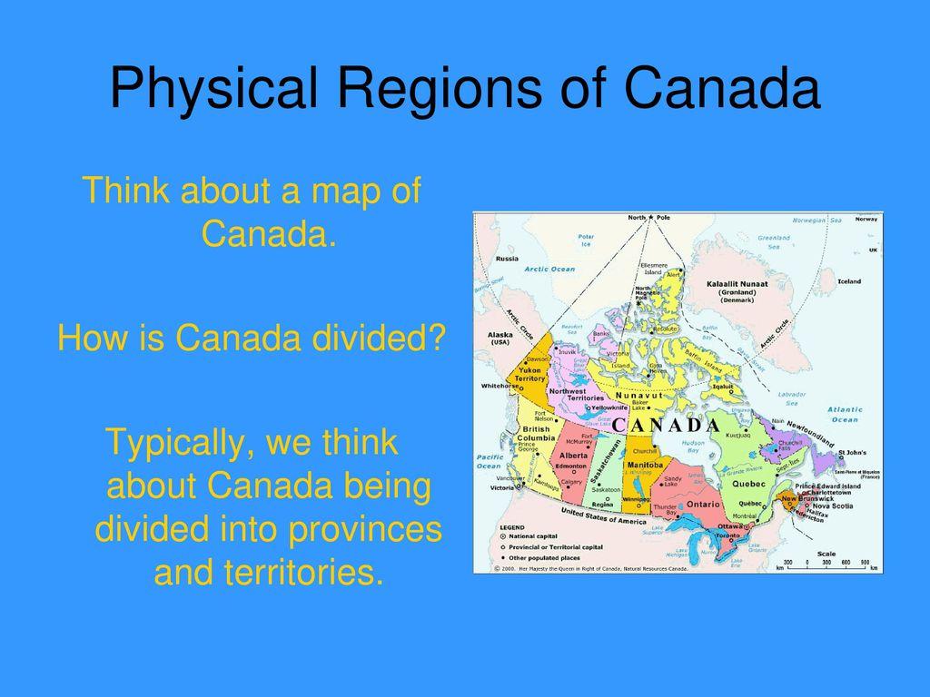 physical regions of canada pdf