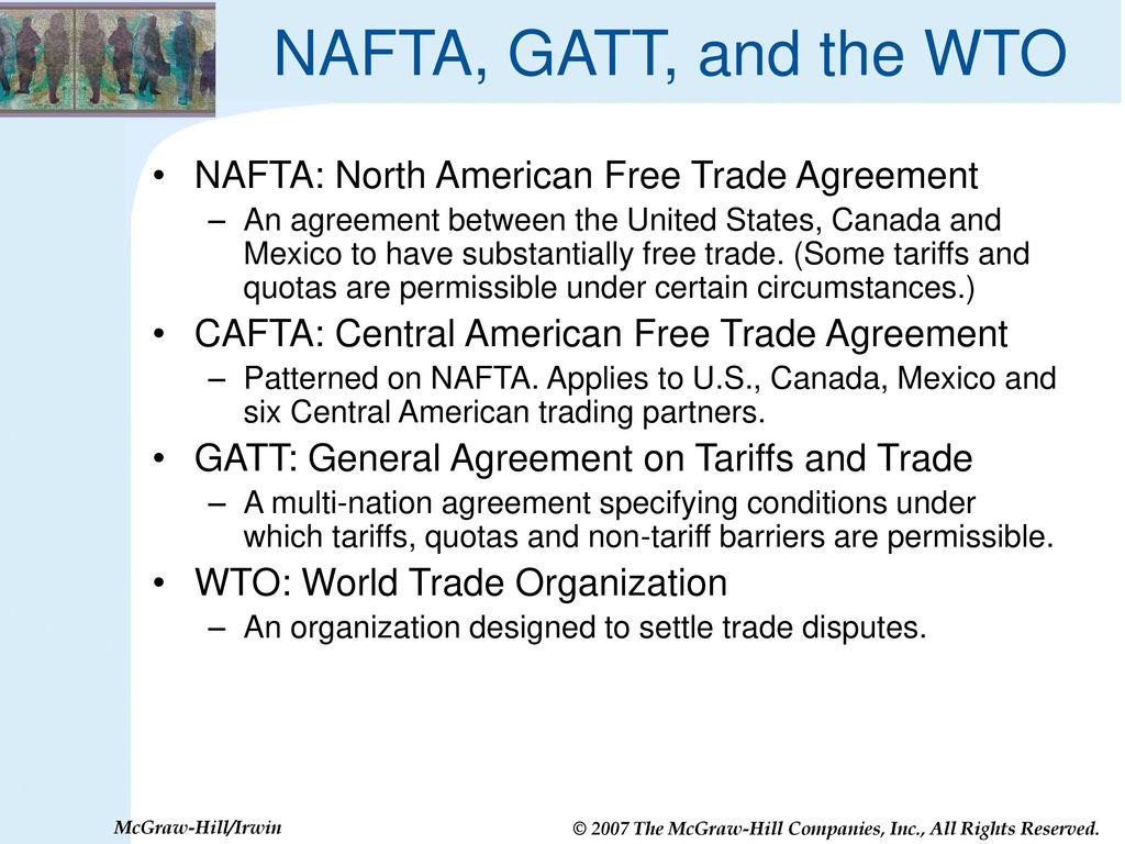 Nafta cafta gatt wto are trade agreements good for us ppt nafta gatt and the wto nafta north american free trade agreement platinumwayz