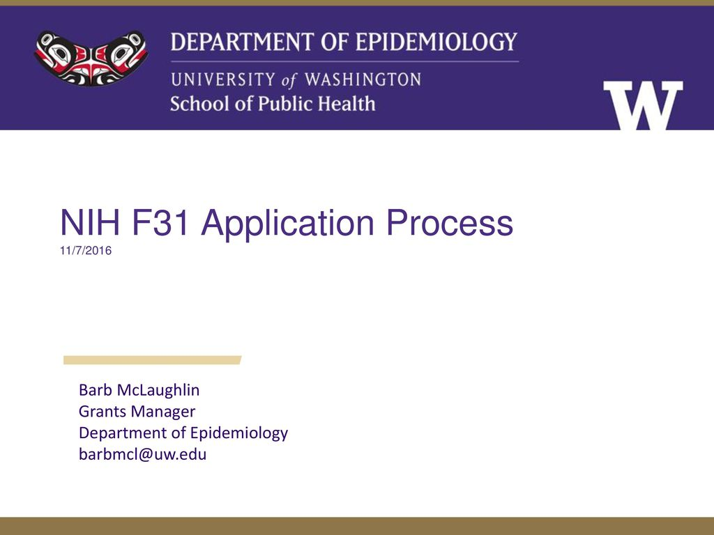 NIH F31 Application Process
