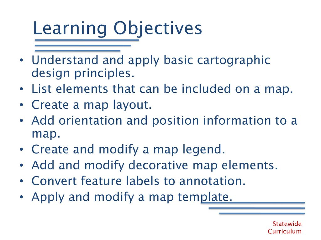 Design Elements And Principles List : Designing maps with arcgis learning desktop