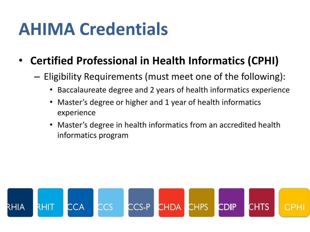 2017 celebration of health information professionals week him ahima credentials certified professional in health informatics cphi 1betcityfo Images