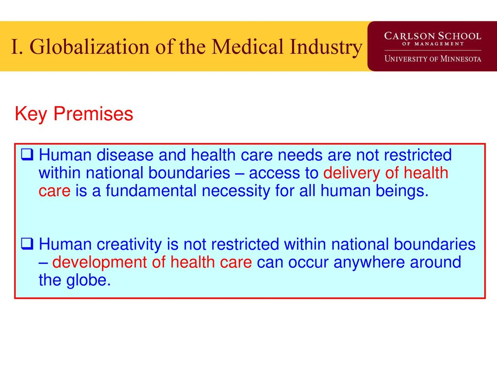University Of Minnesota The Healthcare Marketplace Medical Industry