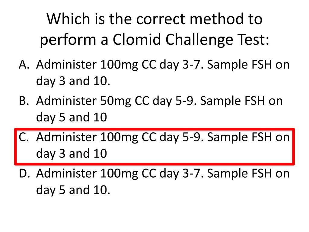 Elevated fsh clomid challenge