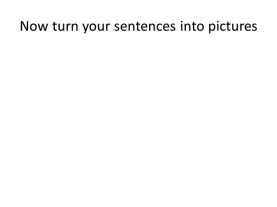Now turn your sentences into pictures