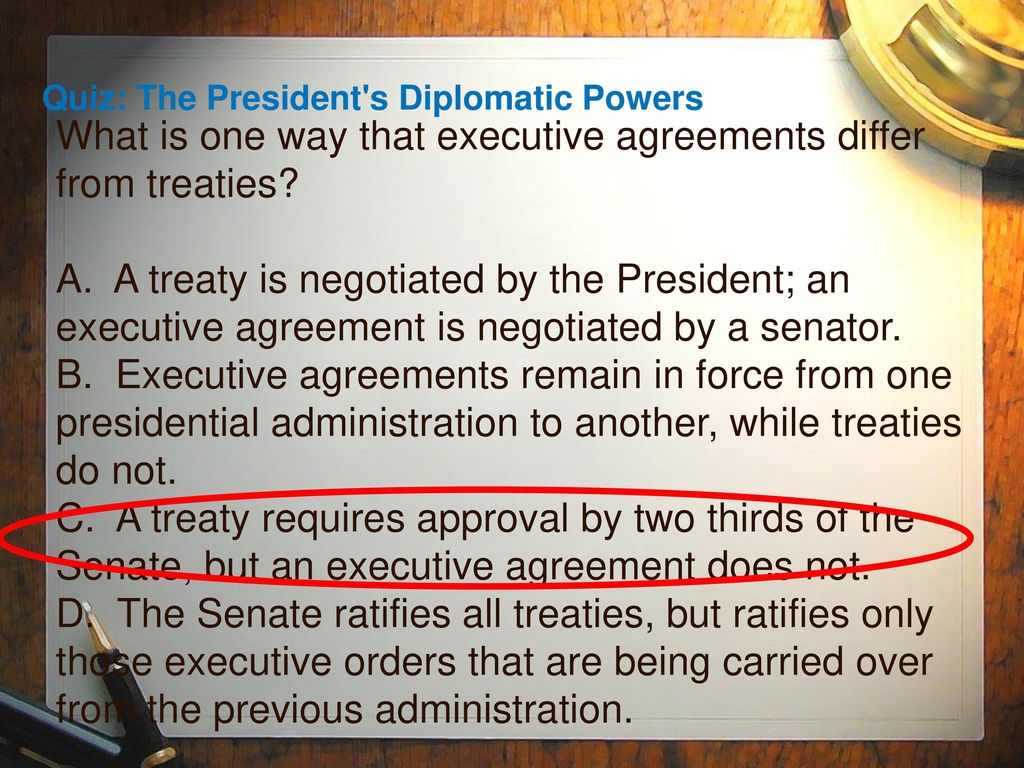 53 the presidents domestic powers ppt video online download 23 what is one way that executive agreements platinumwayz