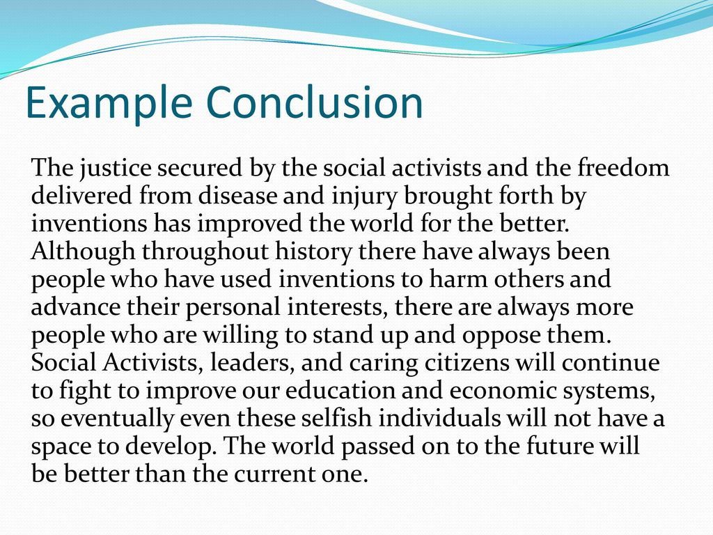 an example of a conclusion for an essay