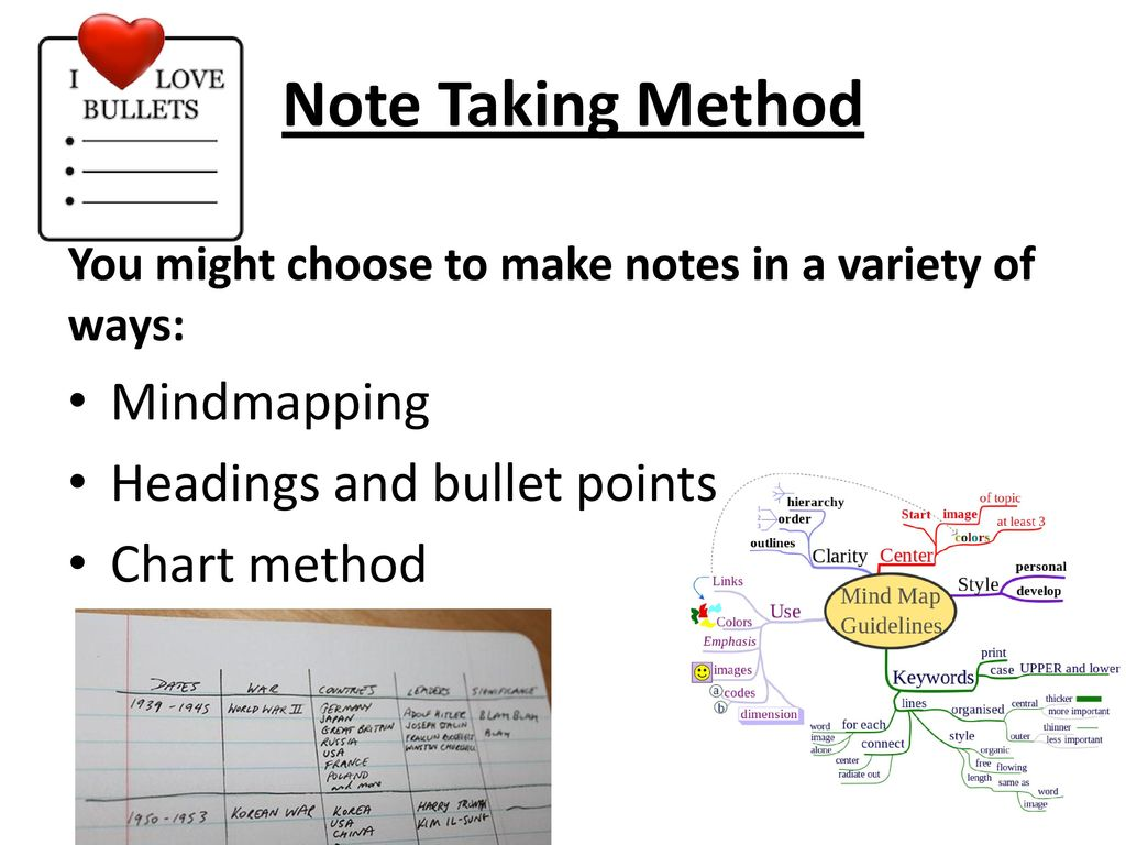 Notes of methodology