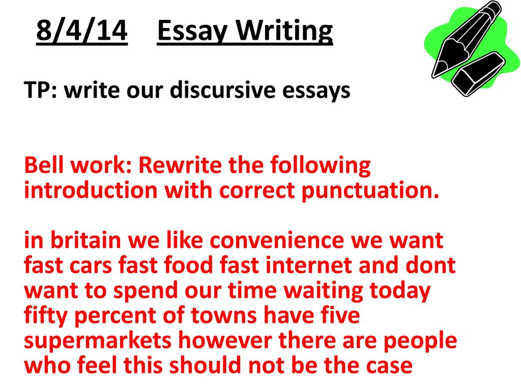 How to write discursive essay introduction