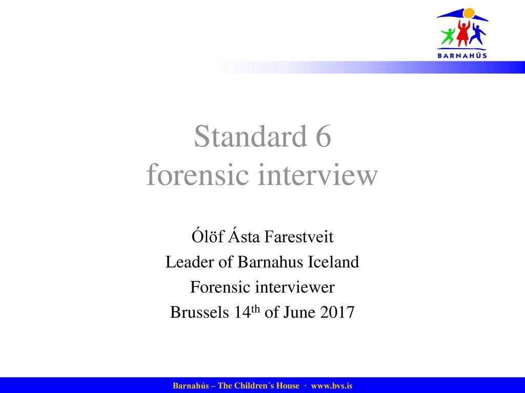 forensic interviewer