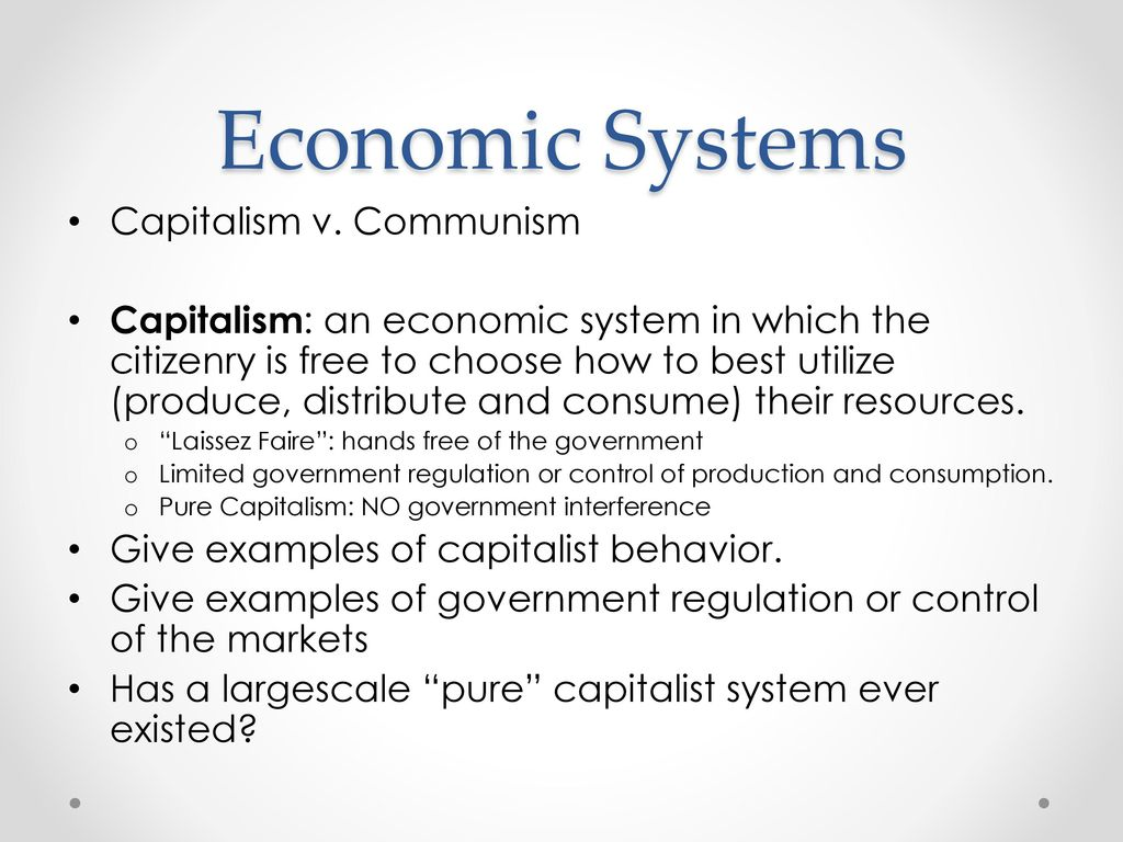 economic systems capitalism v communism ppt  economic systems capitalism v communism
