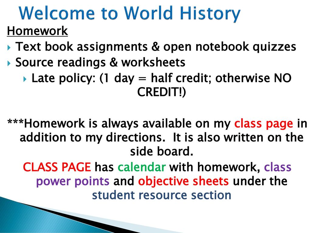 Global History Homework Page means, you'll able