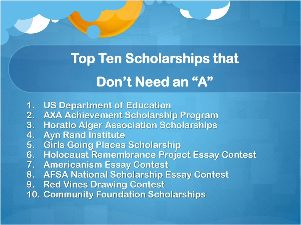 Scholarship Programs for High School Students