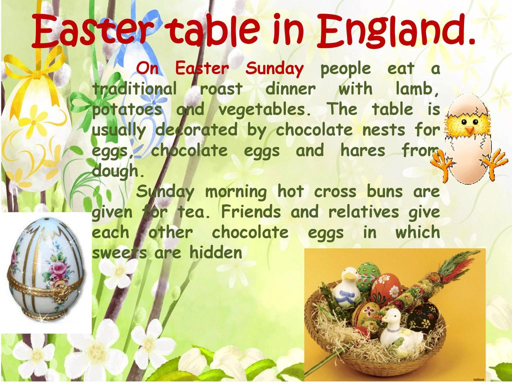 Easter table in England.