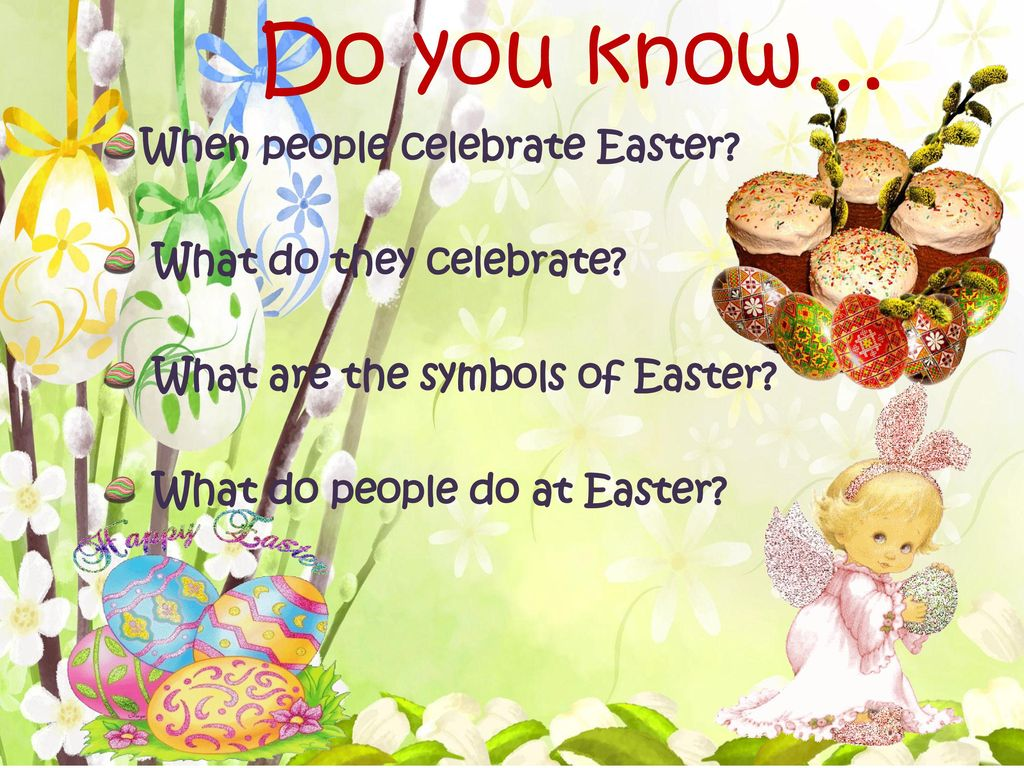 Do you know… When people celebrate Easter What do they celebrate