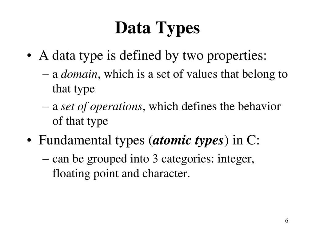Review of c programming language reference tutorialspoint ppt 6 data baditri Choice Image