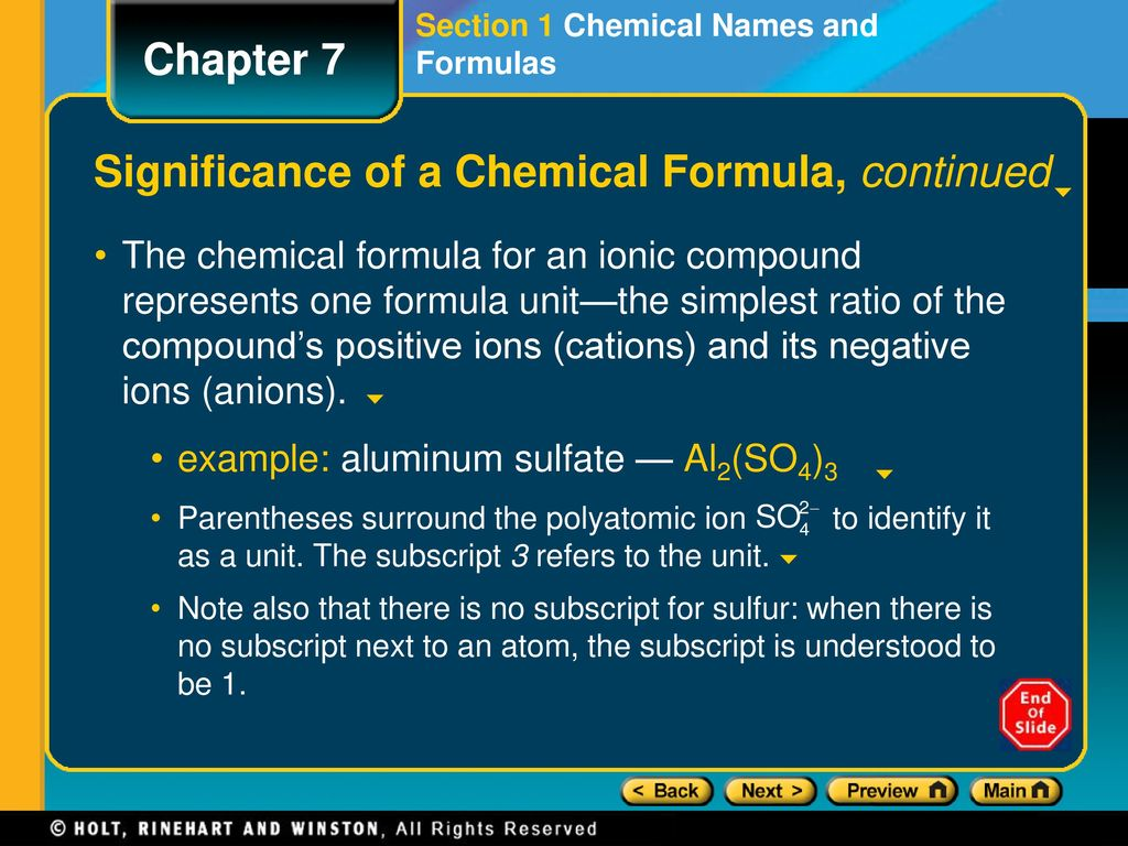 Preview lesson starter objectives significance of a chemical formula significance of a chemical formula continued buycottarizona Choice Image