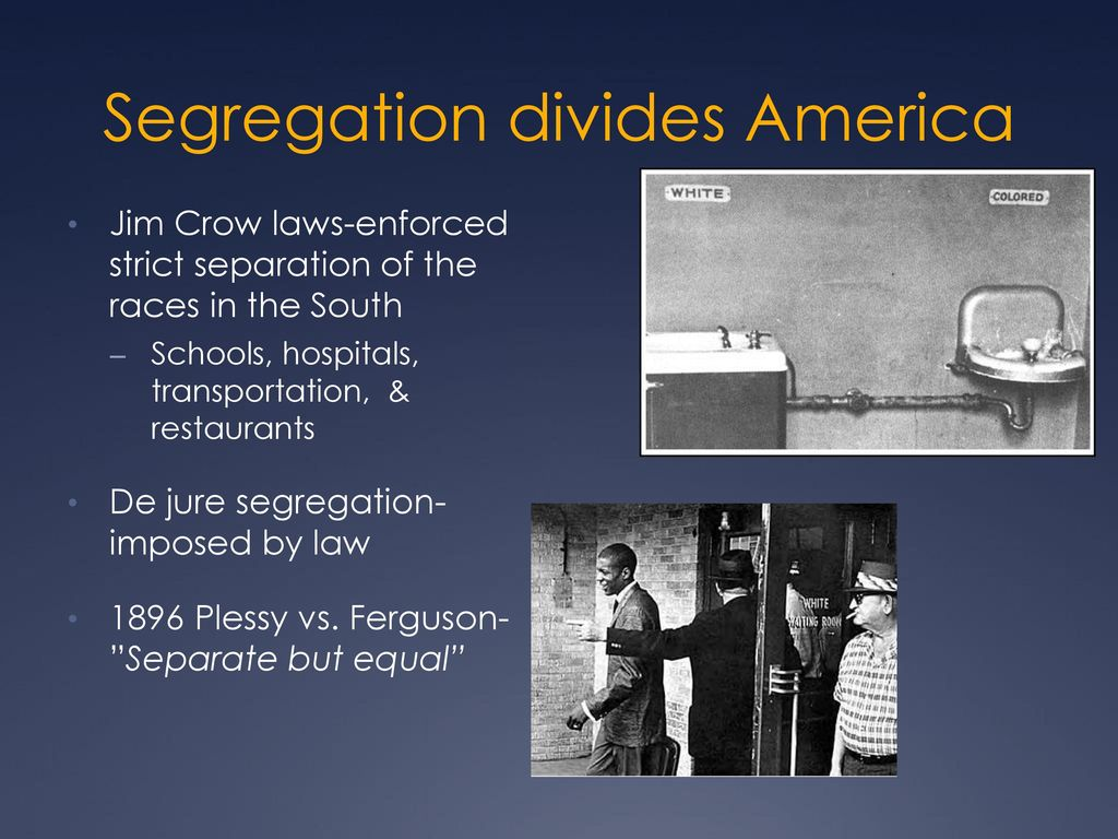 jim crow laws policies enforcing the separate but equal concept