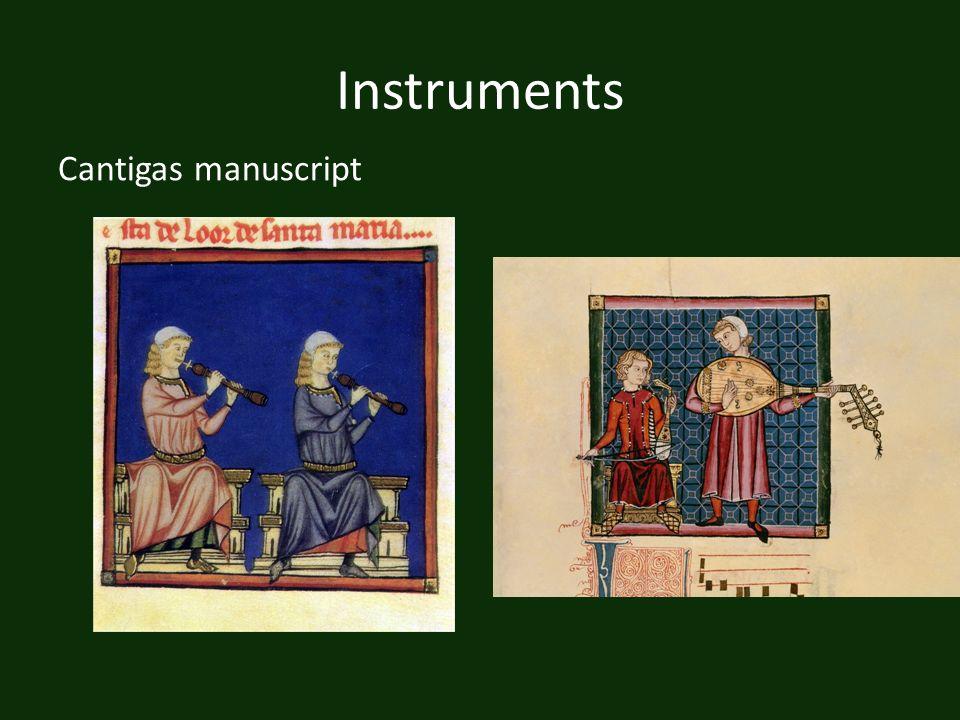 Instruments Cantigas manuscript