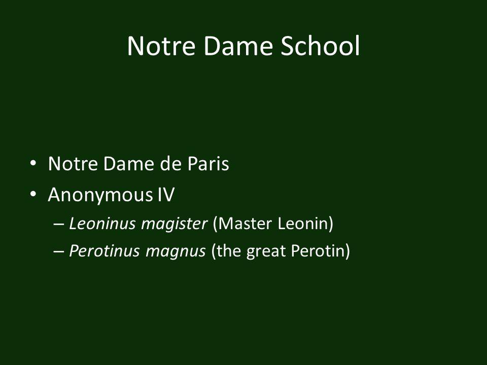 Notre Dame School Notre Dame de Paris Anonymous IV