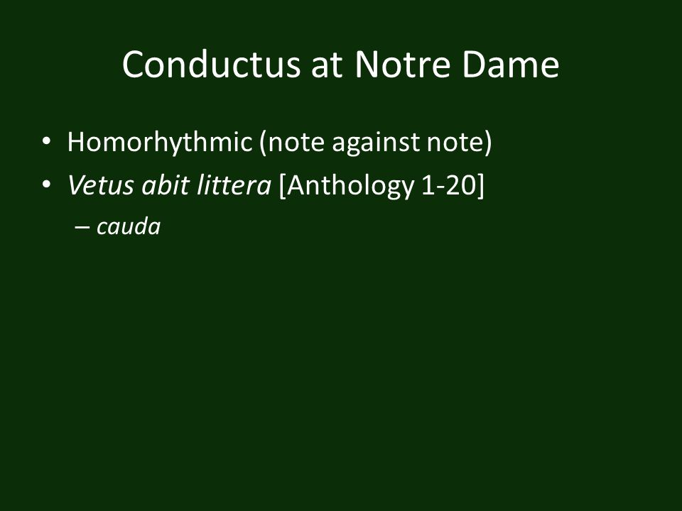 Conductus at Notre Dame