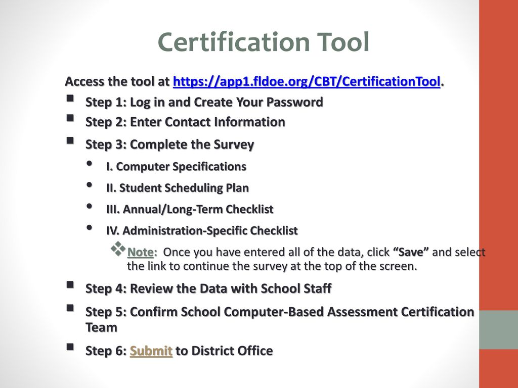 Computer based testing cbt certification tool fsa fcat 2 ppt 14 certification 1betcityfo Image collections