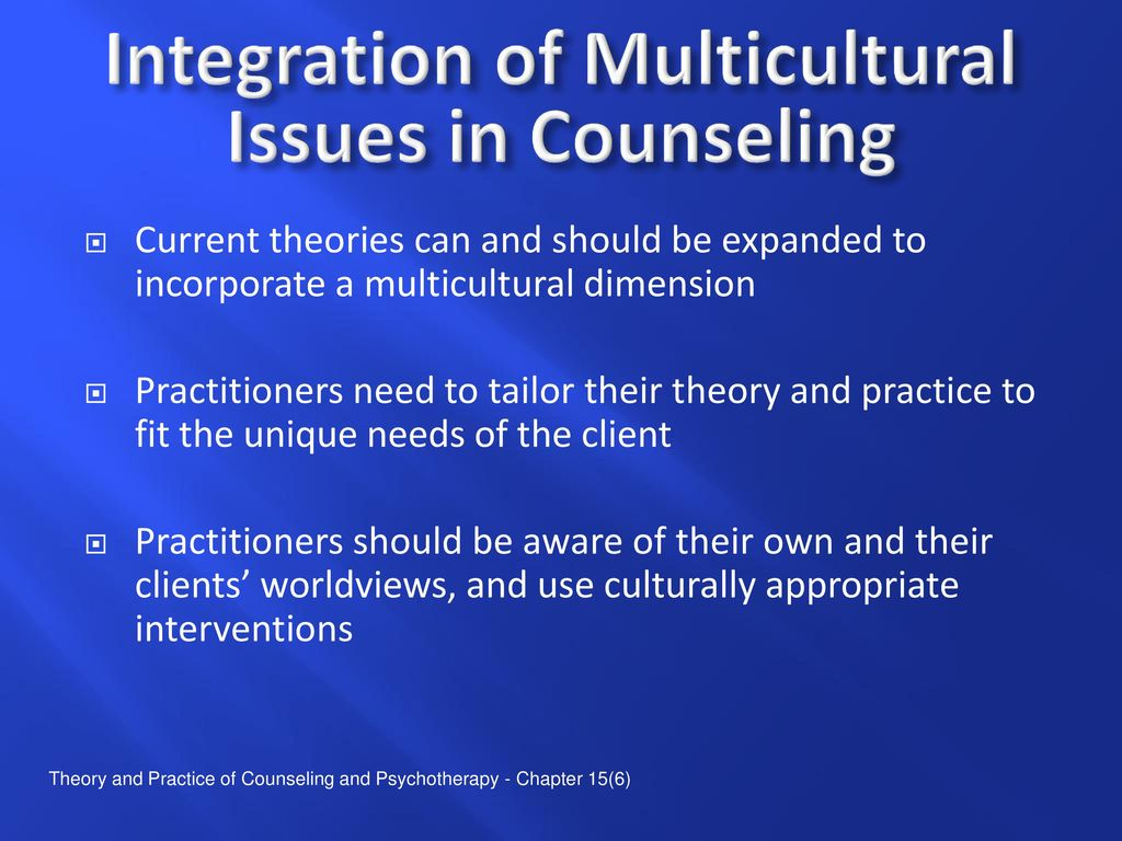 the implications of a multicultural psychotherapy 0 understanding the individualism-collectivism cleavage and its effects: lessons from cultural psychology yuriy gorodnichenko gerard roland.