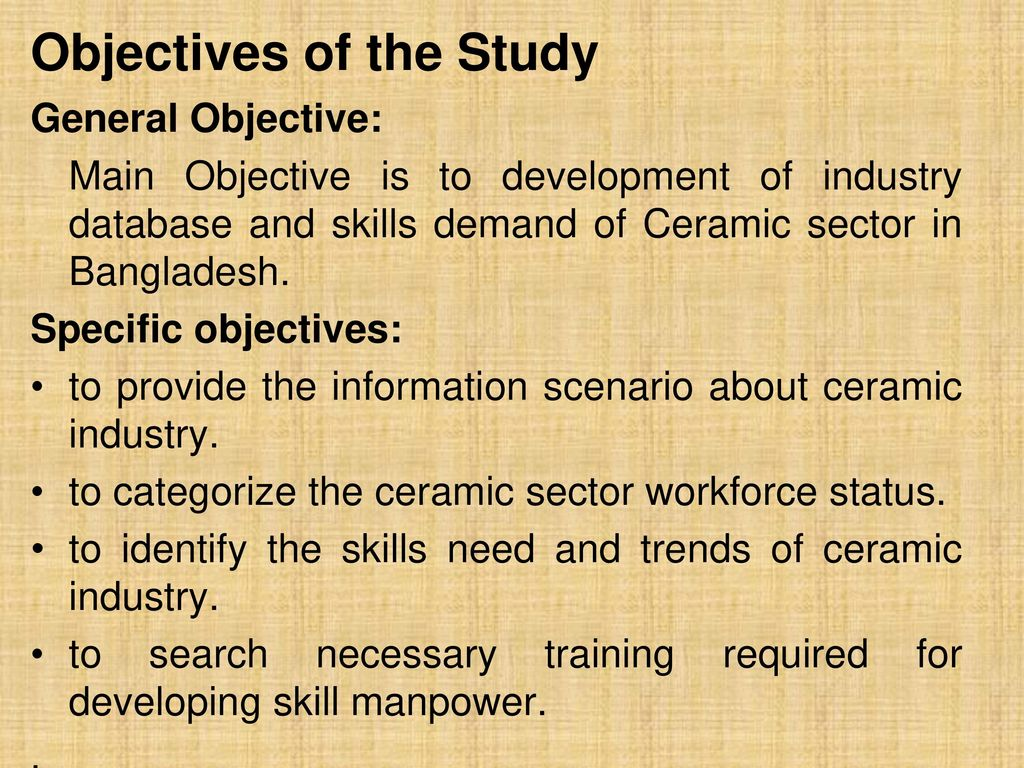 Study on ceramic sector skills demand ppt download 8 objectives dailygadgetfo Images