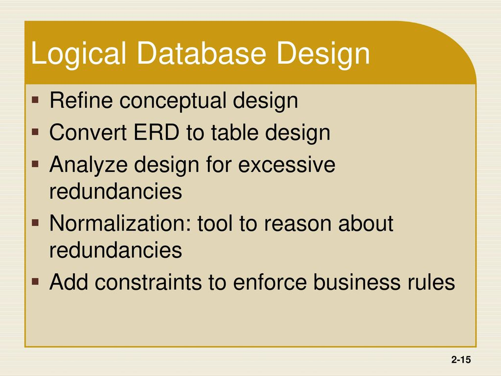 Introduction to database development ppt download for Table design rules