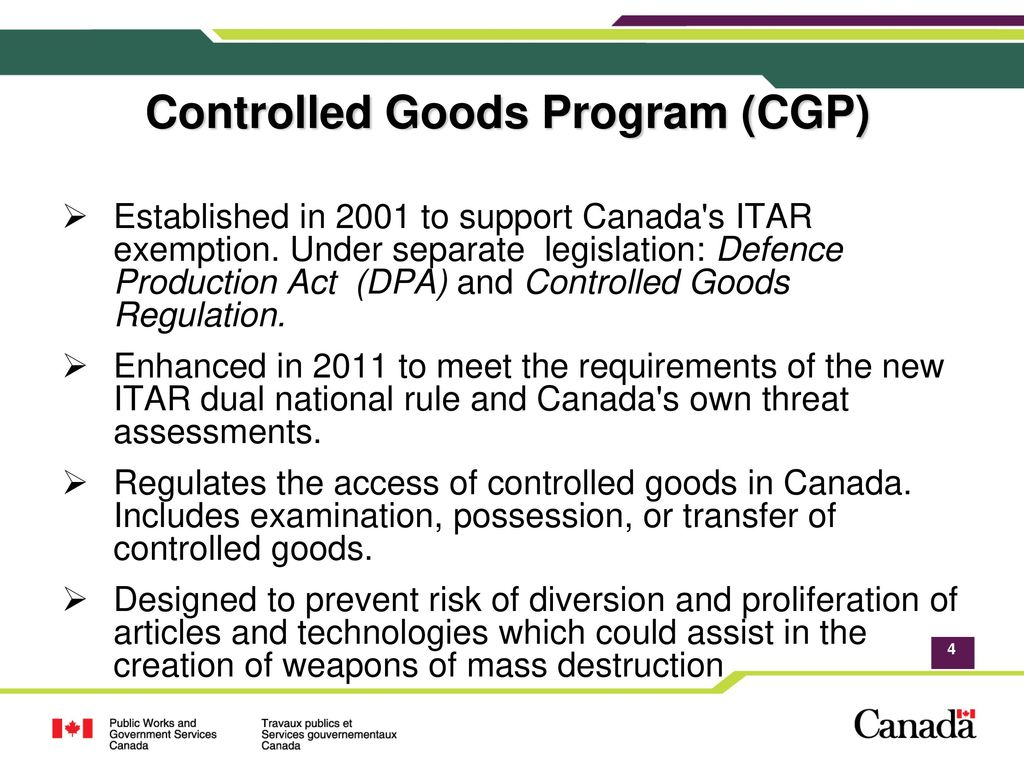 Canada S Implementation Of The New International Traffic In Arms