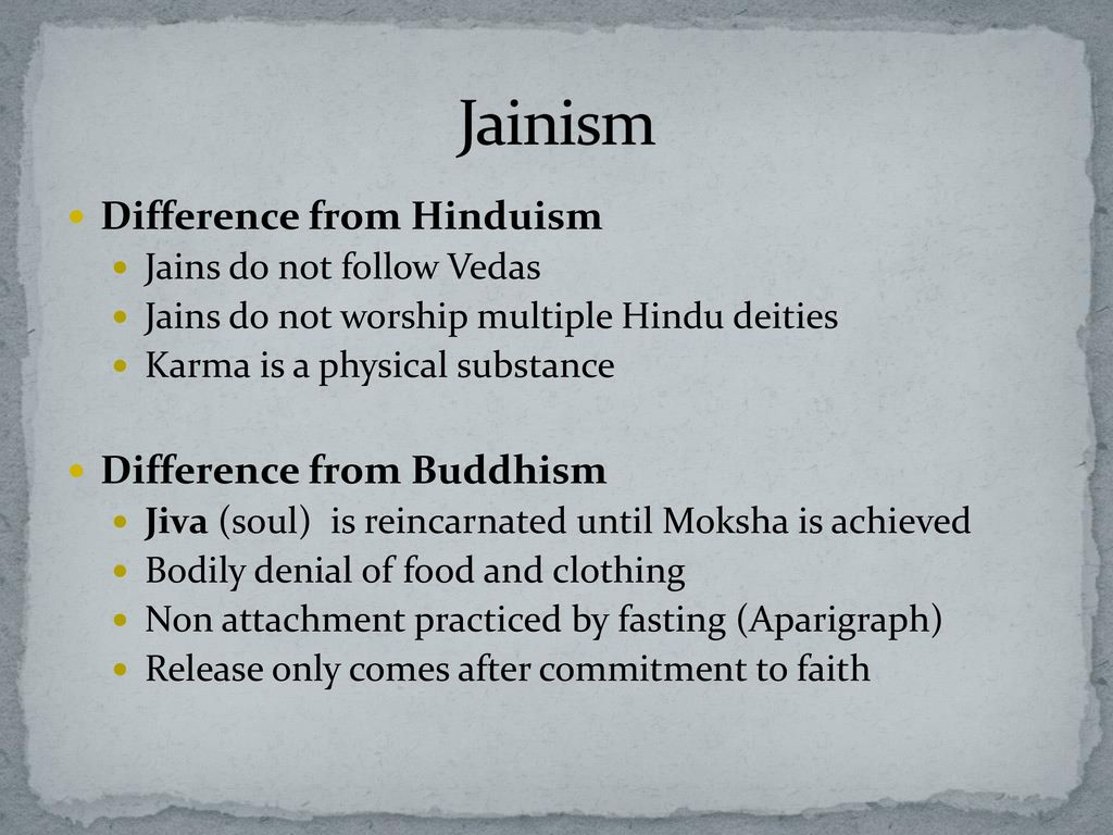 the differences between hinduism and jainism Quiz & worksheet - jainism & hinduism quiz  what is the difference between how hindus see karma and how jains see karma  continue learning about this topic with the lesson titled jainism.