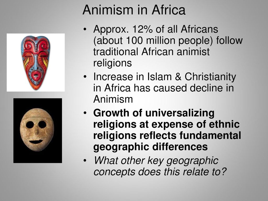 animism christianity and islam Animism is considered to be the original human religion, being defined simply as the belief in the existence of spirits  christianity  islam   animism and .