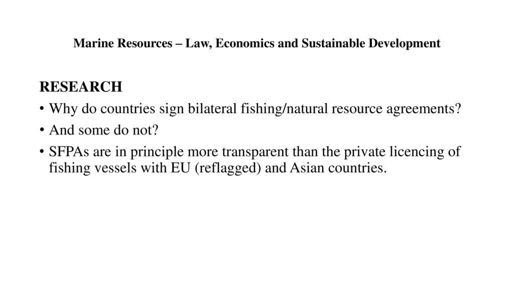 marine resource economics