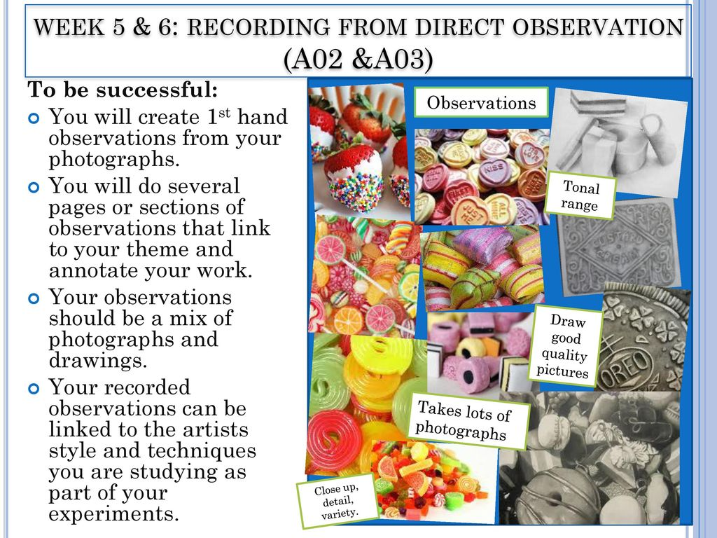 choose 3 of your direct observations When comparing their field notes from direct observation to participant observation, the students may find that their notes from direct observation (without participation) are more detailed and lengthy than with participant observation however, through participation, there is more involvement in the activities under study, so there is likely.