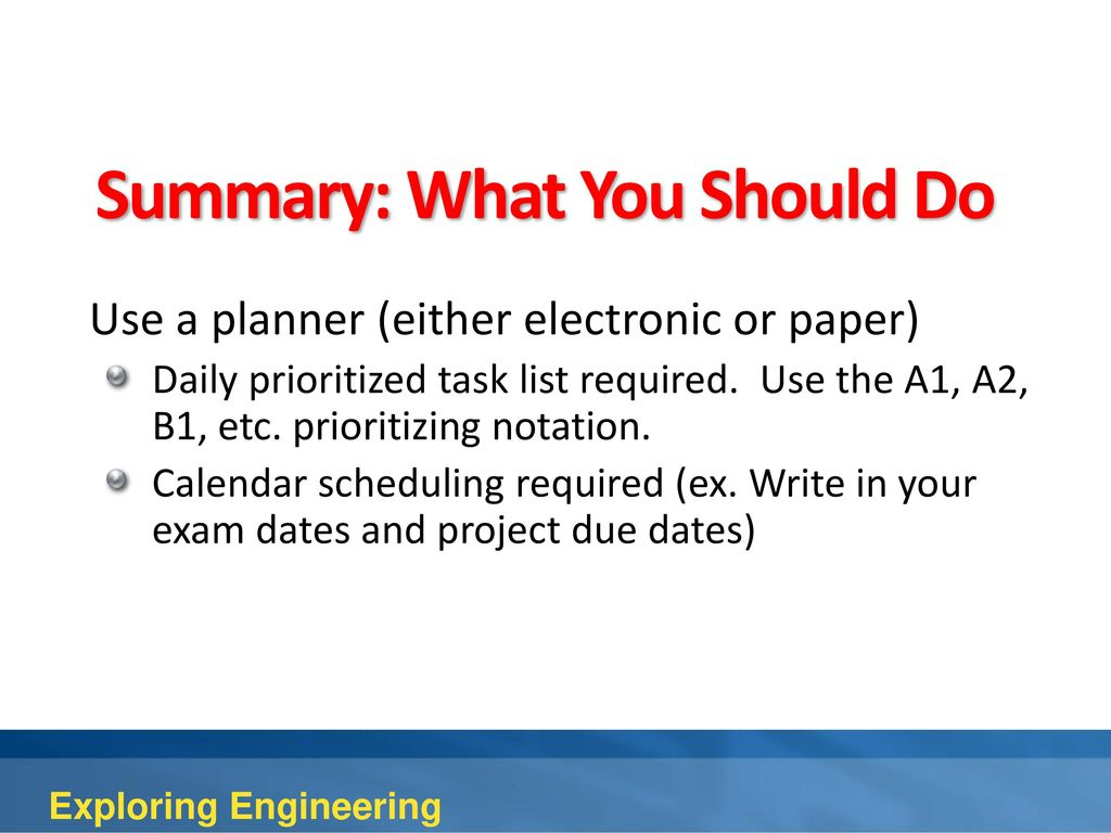 daily task list example