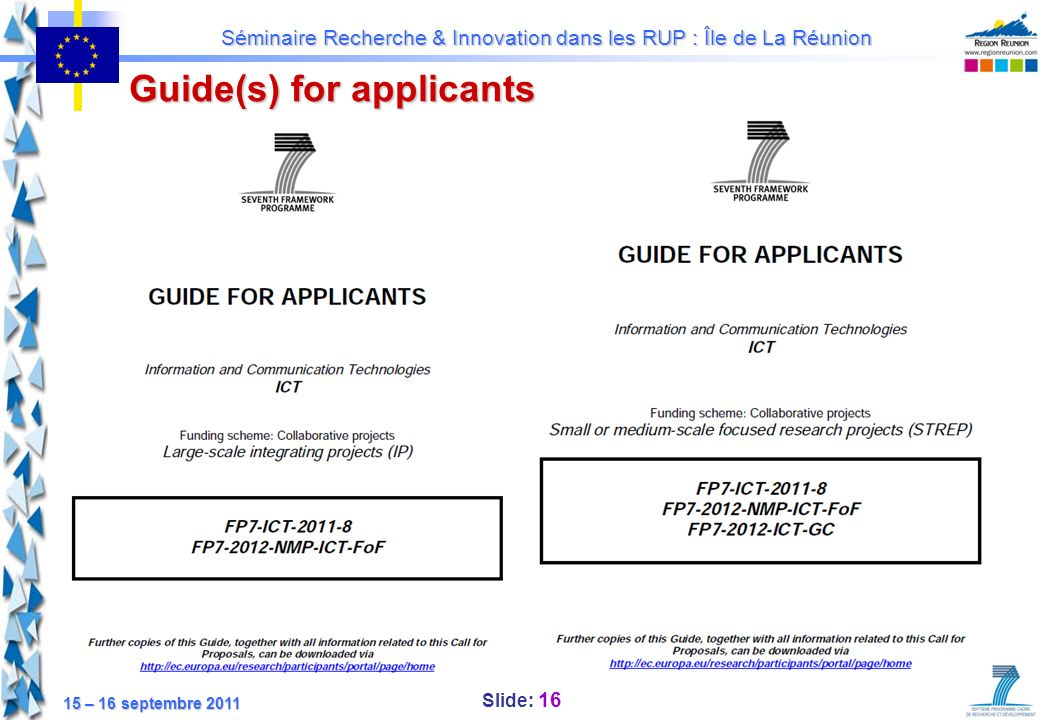 Guide(s) for applicants