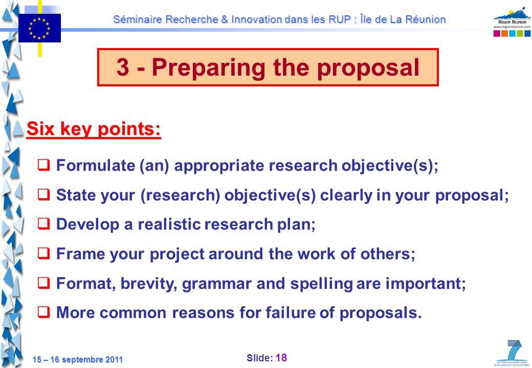 3 - Preparing the proposal