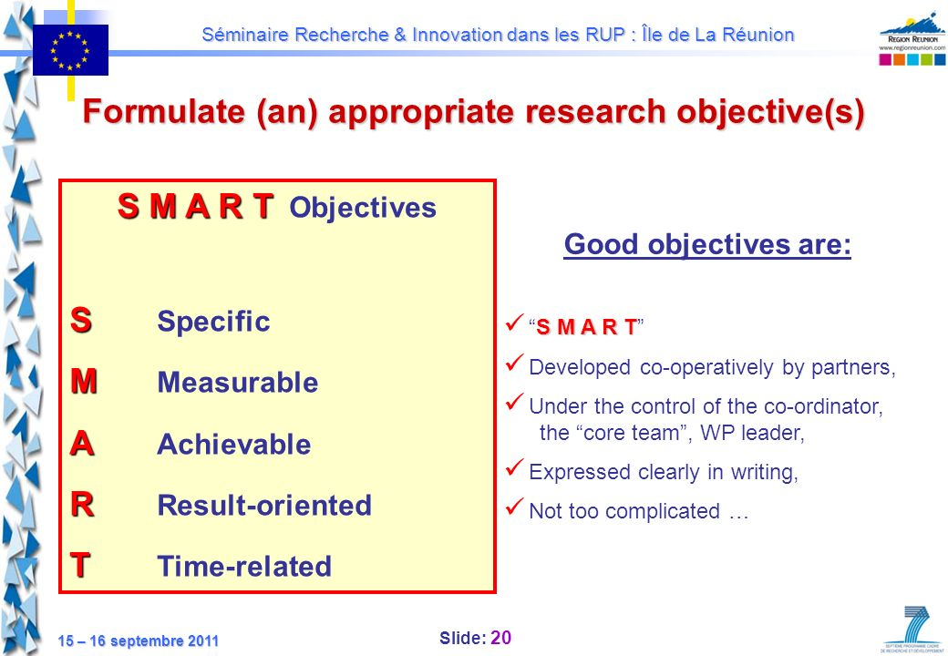 Formulate (an) appropriate research objective(s)