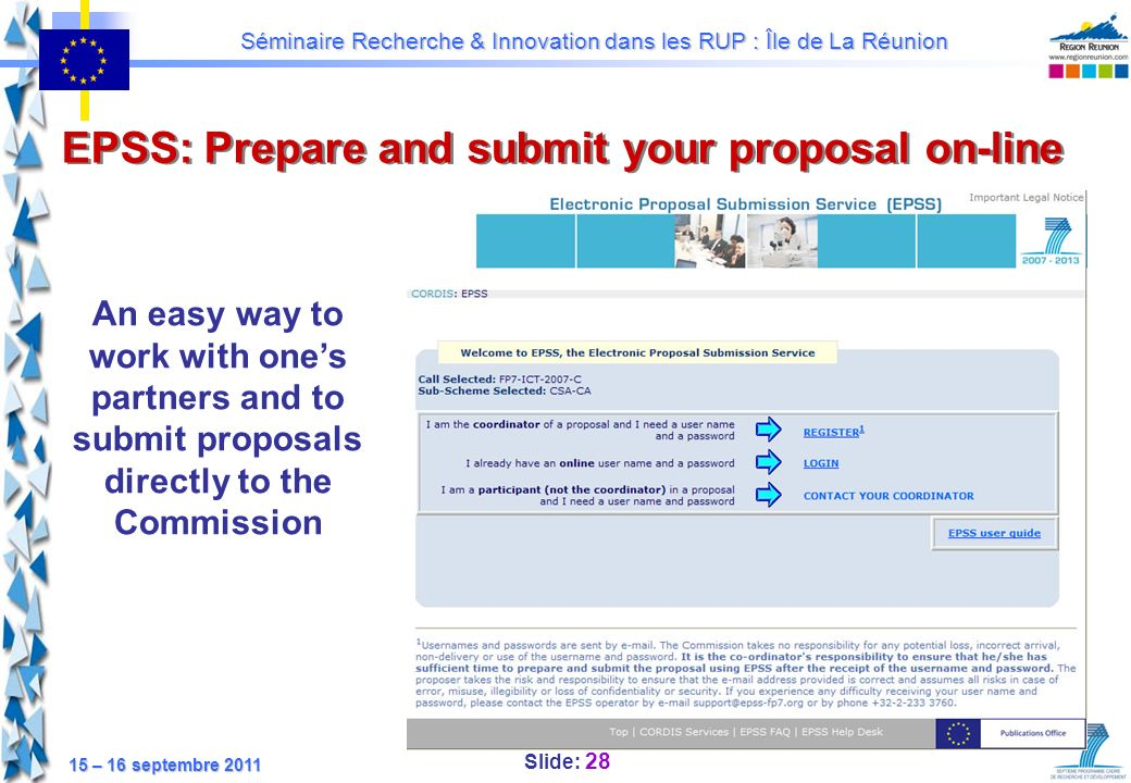 EPSS: Prepare and submit your proposal on-line