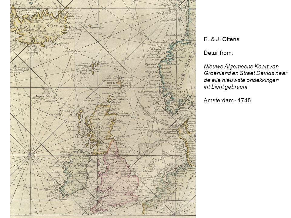 R. & J. Ottens Detail from: Nieuwe Algemeene Kaart van. Groenland en Straet Davids naar. de alle nieuwste ondekkingen.