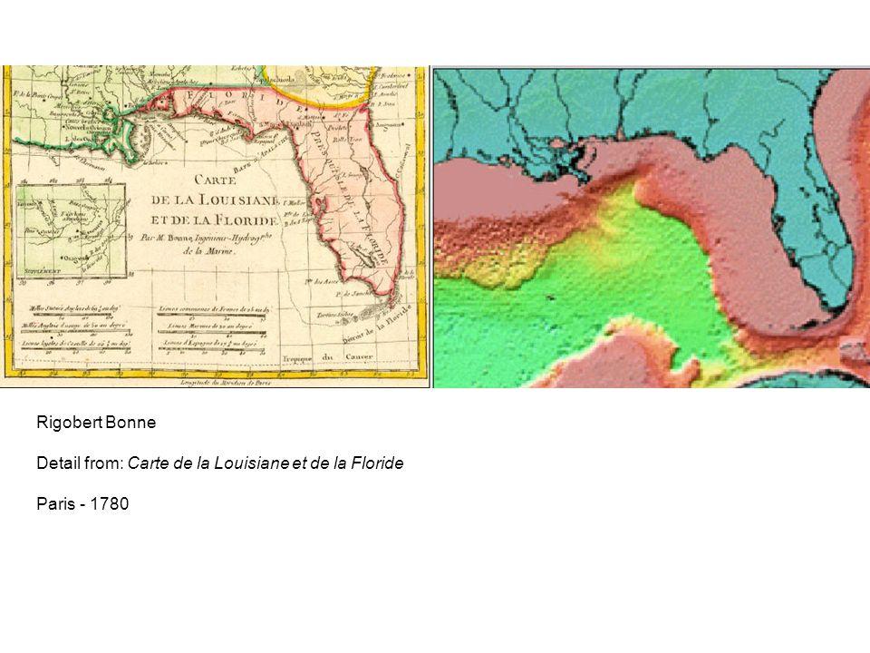 Rigobert Bonne Detail from: Carte de la Louisiane et de la Floride Paris - 1780