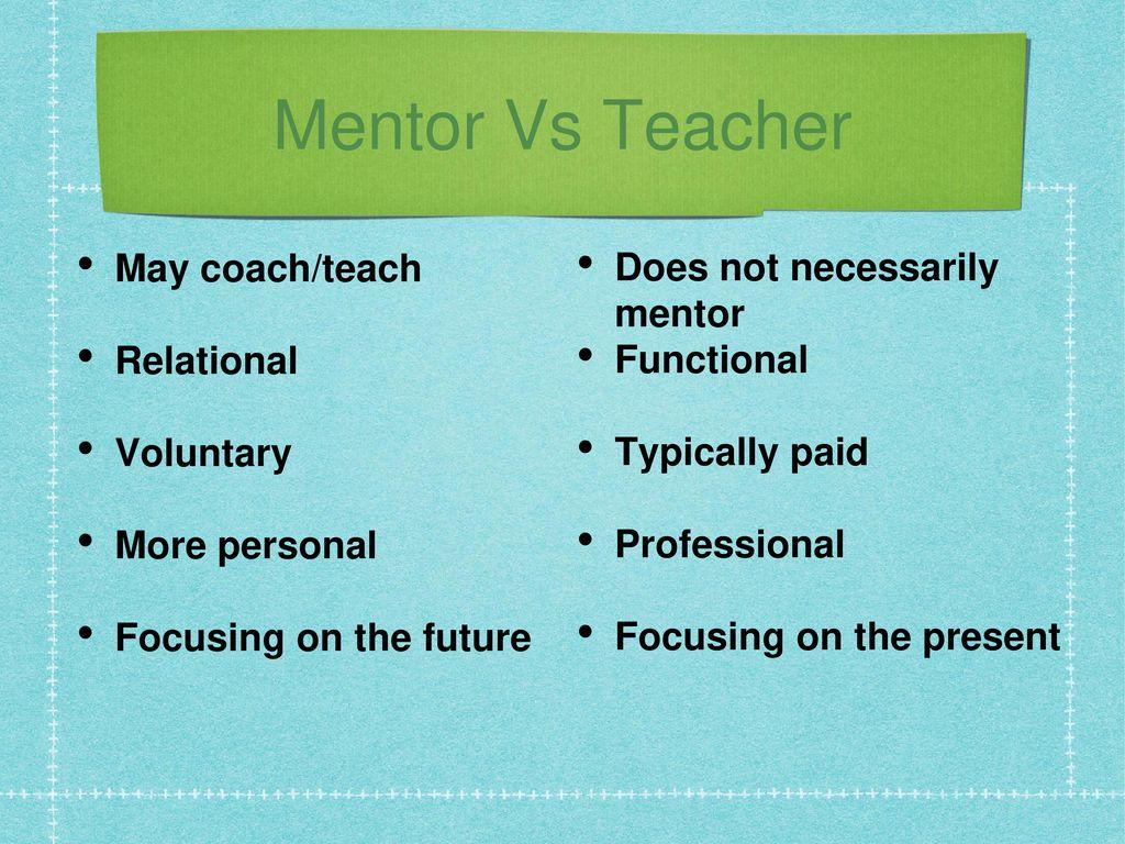 coach vs mentor