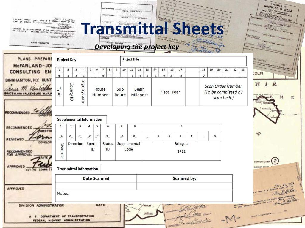 transmittal sheets