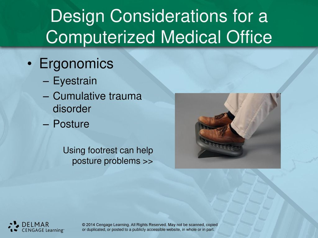 Computers in the ambulatory care setting ppt download for Office design considerations