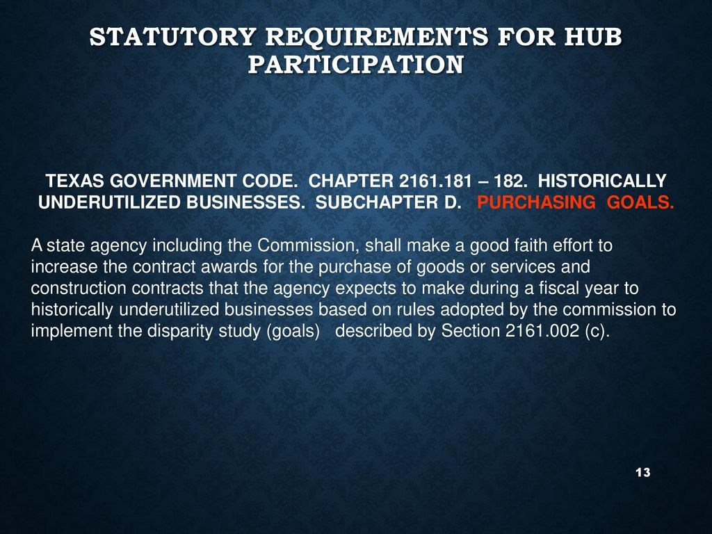 Hub participation and hub subcontracting plan requirements statutory requirements for hub participation 1betcityfo Choice Image