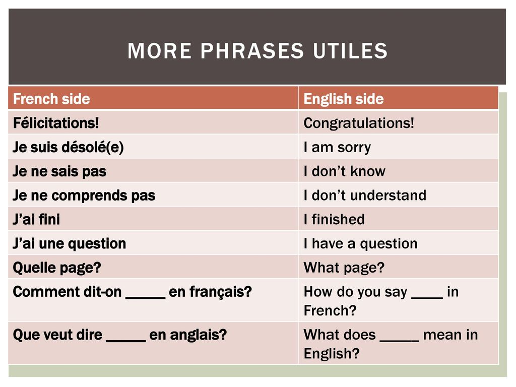 what does en mean in french
