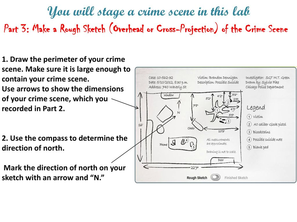 1 06 Crime Scene Sketch GOALS FOR THIS LESSON ppt