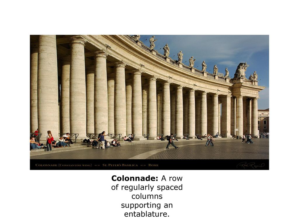 10 Colonnade A Row Of Regularly Spaced Columns Supporting An Entablature