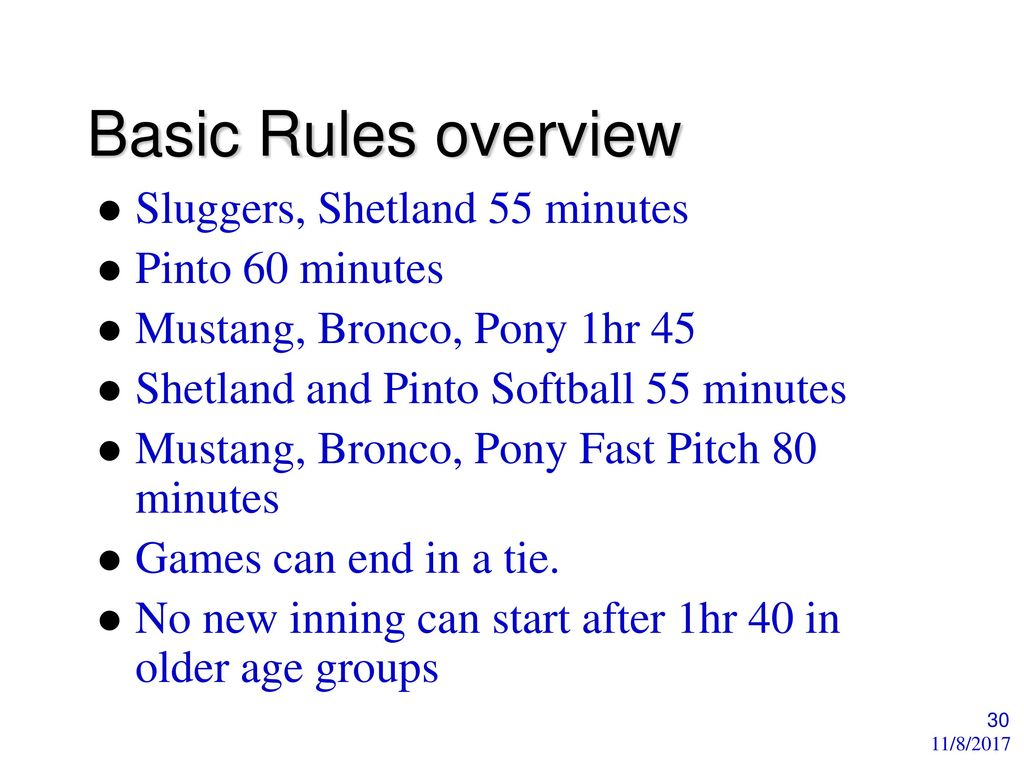 Basic Youth Softball Rules