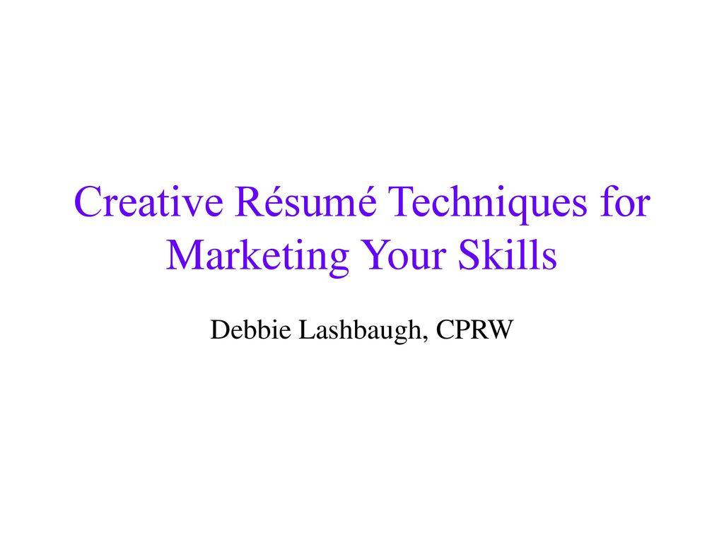 resume techniques